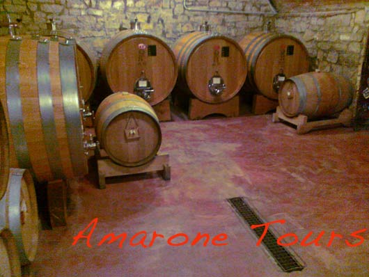 Villa Monteleone cellar.