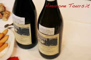 "Many bottles of Amarone on tasting at Amarone Preview had the label ""Sample taken from the barrel authorized by Valpolicella Consortium"""