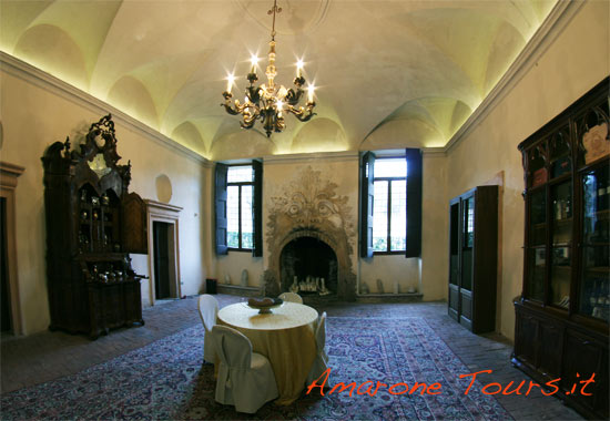 An inside room of Viila della Torre in Fumane - Valpolicella.