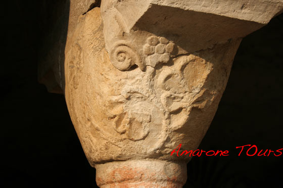 A capital in San Giorgio church cloister