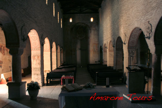 The inside of San Giorgio church.