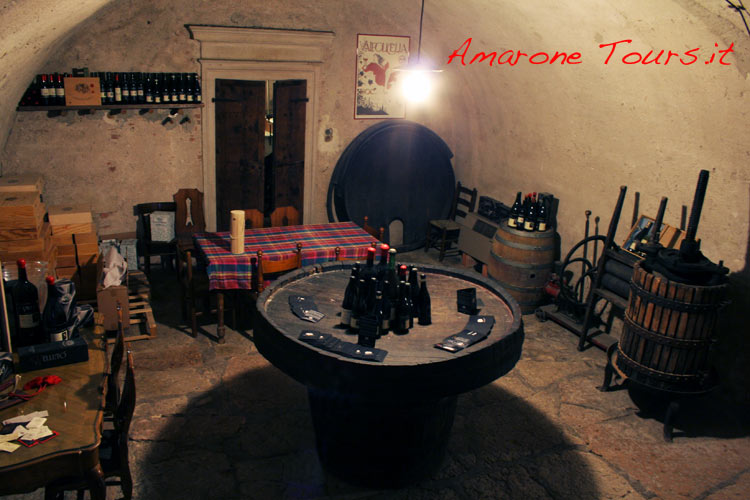 The typical atmosphere of small winery tasting room.