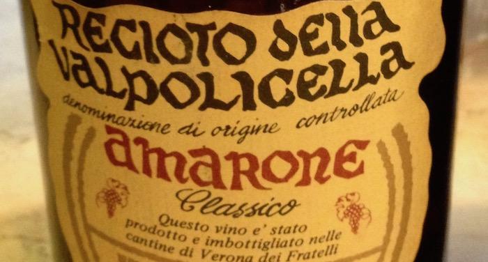 Recioto Amarone vintage 1980