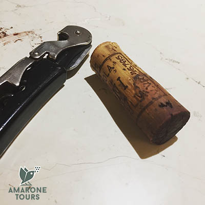 opening a boggle of Amarone