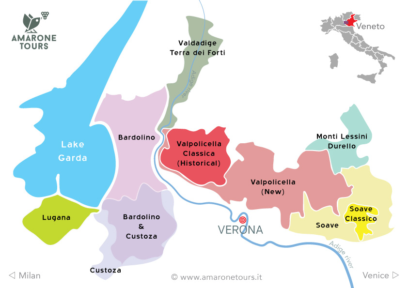 Verona wine regions map